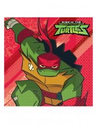 16 tovaglioli in carta 33 cm Tartarughe ninja™