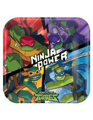 8 Piatti quadrati in cartone Tartarughe Ninja™ 23 cm