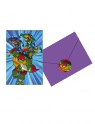 8 Inviti con busta Tartarughe Ninja™