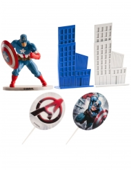 Set decorazioni per torta Captain America™ 8 cm