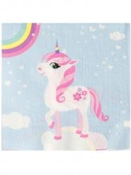 20 Tovaglioli in carta unicorno magico 33 cm
