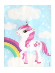 6 Buste regalo in plastica unicorno magico