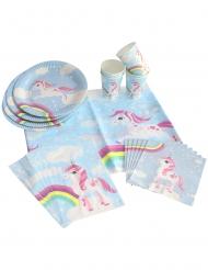 kit compleanno unicorno magico 25 pezzi