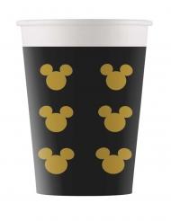 8 Bicchieri in cartone Topolino gold™ 160 ml