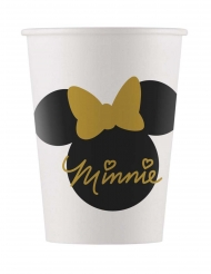 8 Bicchieri in cartone Minnie Gold™ 160 ml