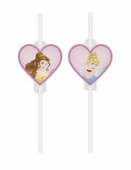 4 Cannucce con immagine in cartone Principesse Disney™