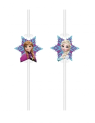 6 Cannucce con immagine in cartone Frozen™