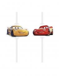 4 Cannucce con medaglione in cartone Cars 3™