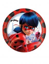 8 Piatti in cartone Miraculous Ladybug™ 23 cm