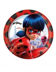 8 piatti piccoli in cartone Miraculous Ladybug™ 20 cm