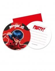 6 Inviti di compleanno con busta Miraculous Ladybug™