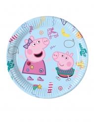 8 Piatti in cartone Peppa Pig™ 23 cm
