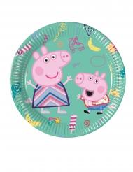 8 Piatti piccoli in cartone Peppa Pig™ 20 cm