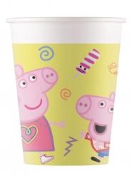 8 Bicchieri in cartone Peppa Pig™ 200 ml