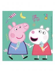 20 Tovaglioli in carta Peppa Pig™ 33 cm