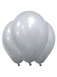 12 palloncini in lattice argentato 28 cm
