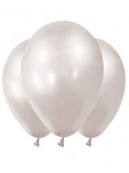 12 palloncini in lattice bianco metalizzato 28 cm
