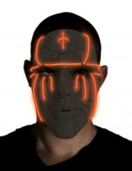 Maschera nera con led luminosa adulto