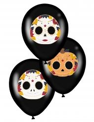 6 Palloncini Dia de los Muertos neri