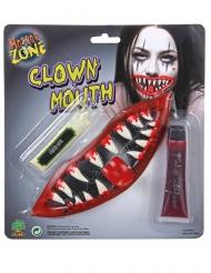 Kit trucco bocca clown spaventoso