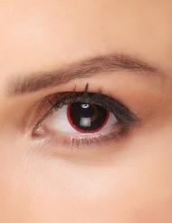 Lenti a contatto nero con contorno rosso adulto