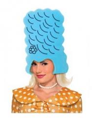 Parrucca blu alta in spugna per adulto