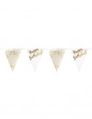 Ghirlanda lusso bandierine Happy Birthday oro