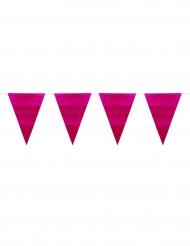 Ghirlanda bandierine rosa metallizzato