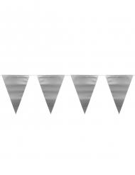 Ghirlanda con festoni argento metallizzato 6 m