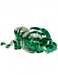2 Rulli di stelle filanti verde metallizzato 4 m