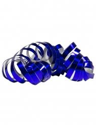 2 Rulli di stelle filanti blu metallizzato 4 m