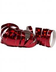 2 Rulli di stelle filanti olografiche rosse 4 m