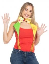 Bretelle clown con papillon per adulto