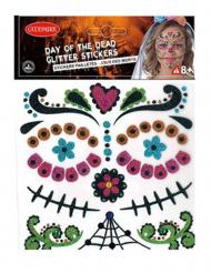 Stickers Dia de los Muertos con paillettes