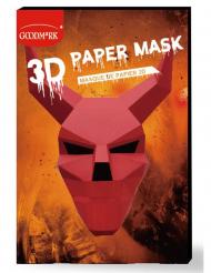 Maschera di carta 3D diavolo adulto
