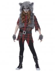 Costume lupo mannaro bambina