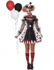 Costume clown psicopatico vestito donna