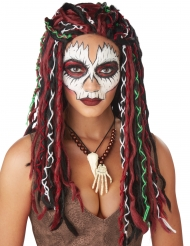 Parrucca da sacerdotessa vudù donna