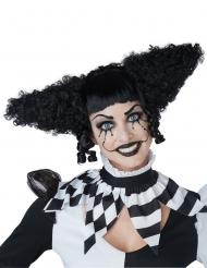 Parrucca psycho clown nera donna