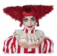 Parrucca psycho clown rossa donna