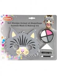 Set maschera e trucco gatto bambino