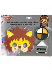 Set maschera e trucco leone bambino