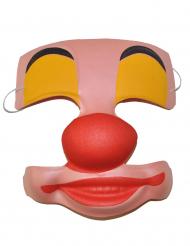 Maschera clown in plastica per adulto