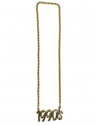 Collana dorata anno 1990 per adulto