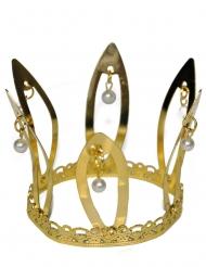 Corona medievale dorata per adulto