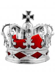 Spilla per capelli mini corona reale argentata