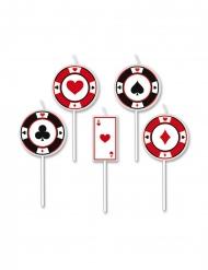 5 candele su stuzzicadenti big poker 8 cm