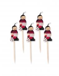 5 Candeline su pics calciatore rosso e nero