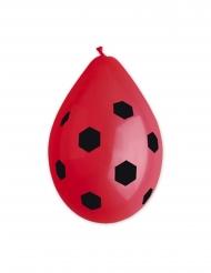 10 palloncini in lattice rosso calcio 30 cm