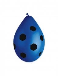 10 Palloncini in lattice pallone da calcio blu